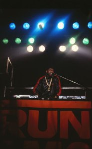 "Jason Mizell, aka Jam Master Jay, on the Raising Hell tour, New Orleans, 1986 (RIP) While I was taking this shot, I remember thinking to myself, ""Damn, I hit the 'Big Time.'"""