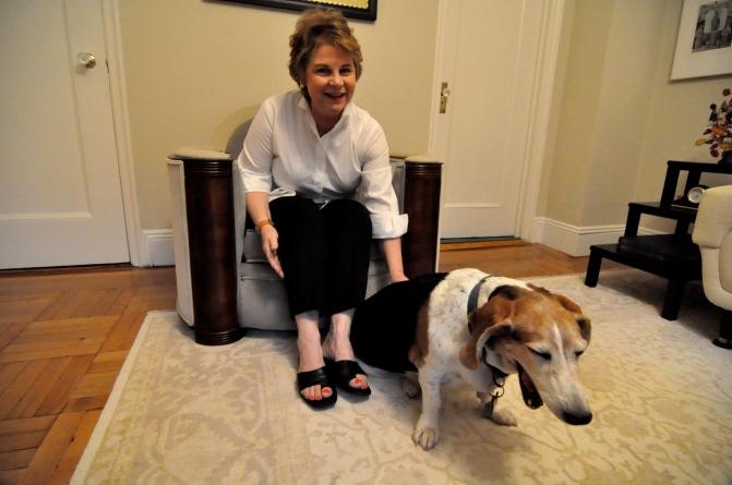 Marta and her dog Belle