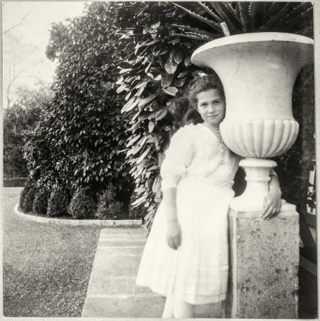 Grand Duchess Maria in the garden of the summer residence at Livadia, Crimea, c. 1910. Photograph. © Beinecke Rare Book and Manuscript Library, Yale University, New Haven, CT