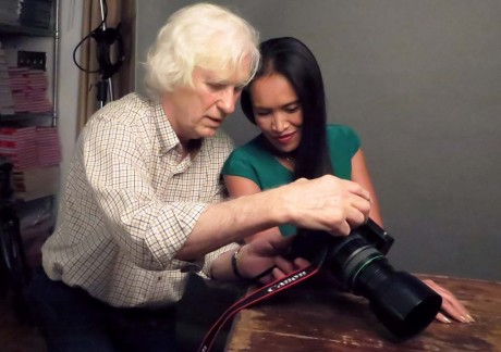 Douglas Kirkland and Somaly Mam, photographed by Price Arana