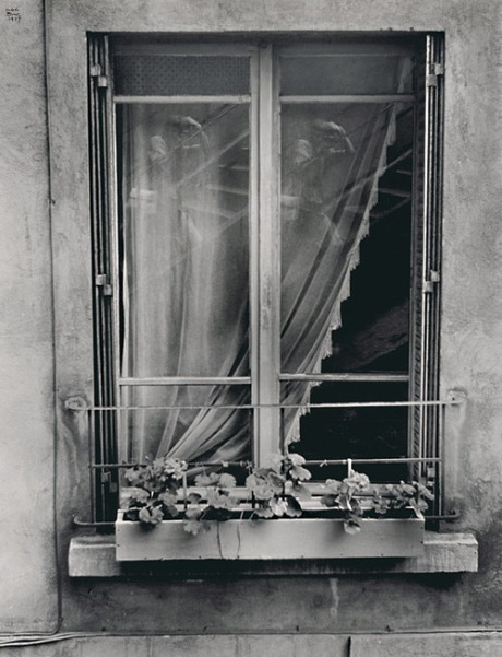 Ilse Bing. Double Auto Portrait in the Window. France, 1947.