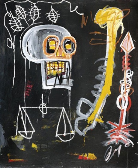 Jean-Michel Basquiat - Untitled (Black Skull), 1982