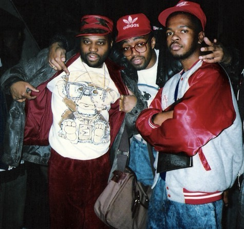 Med_3421_4_pb_phade_gizmo_milk_1987-jpg Phade, Gizmo and Milk, Latin Quarters night club, 1987, from 'Shirt Kings: Pioneers of Hip Hop Fashion' by Edwin PHADE Sacasa and Alan KET