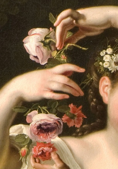 Bartolomeo Guidobono, Allegory of Spring, detail, c.1705-9