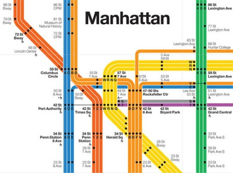 1972 Subway Map by Vignelli