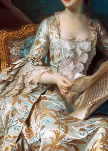 Maurice-Quentin Delatour,Portrait of the Marquise de Pompadour (detail)