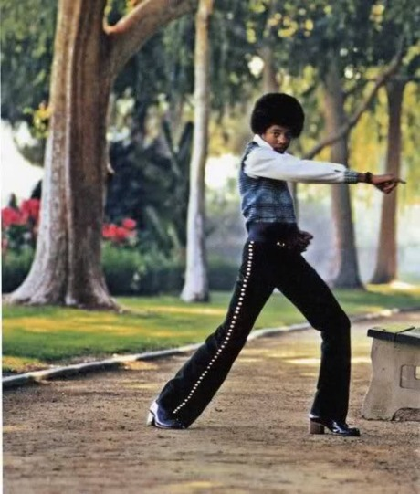 Michael Jackson, who was a massive Shaw Brothers and Bruce Lee fan, breaks out some moves as a kid.