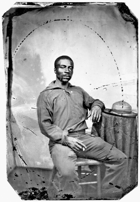Seaman George William Commodore, U.S. Navy. Tintype by unidentified photographer, about 1865-1867. © Collection of National Archives and Records Administration, Washington, D.C.