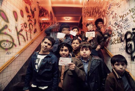 Graffiti Kids, photograph by Jon Naar, 1973. © Jon Naar. Photographer Jon Naar documented New York's graffiti art movement in 1970s and '80s including artists, such as the pictured kids, posing with their work.