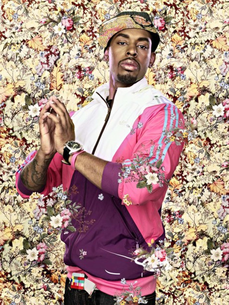 After Jean August Dominique Ingres' The Virgin with the Host, Black Light series Photograph 2009 by Kehinde Wiley