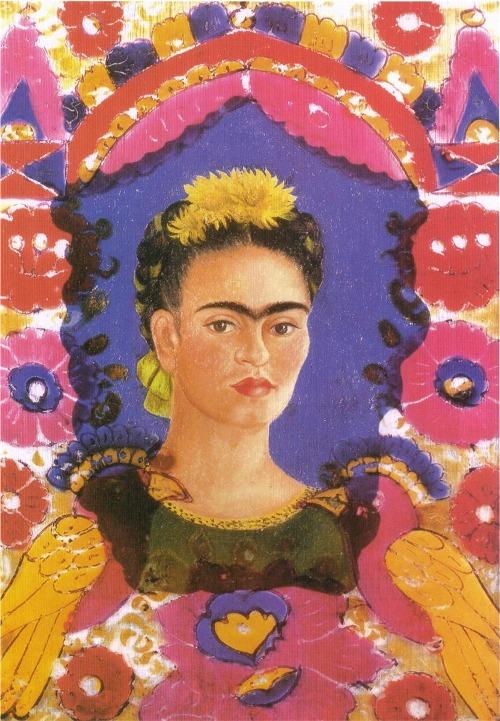 Self Portrait - The Frame, 1938 ~  Frida Kahlo