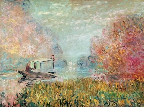 Claude Monet, The Boat Studio on the Seine, 1875