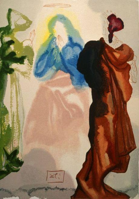 Dante's The Divine Comedy, Paradise: Canto 33, 'Saint Bernard's Prayer'.  Salvador Dalí (ca 1960-1964)