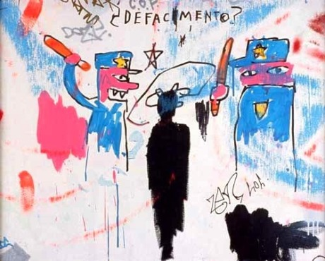 Defacement (The Death of Michael Stewart), 1983.  Jean Michel Basquiat