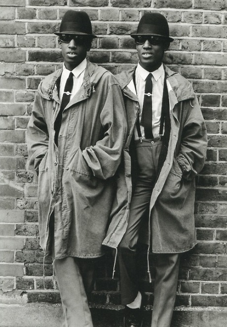 Chuka and Dubem Okonkwo in London photographed by Janette Beckman, 1979