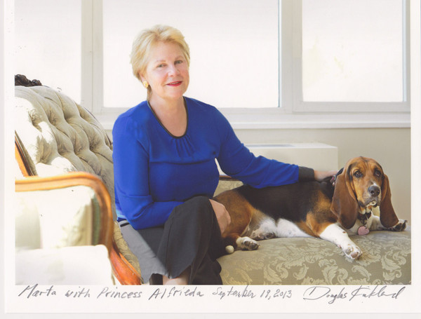 Photograph: Marta Hallett and Princess Alfrieda by Douglas Kirkland.