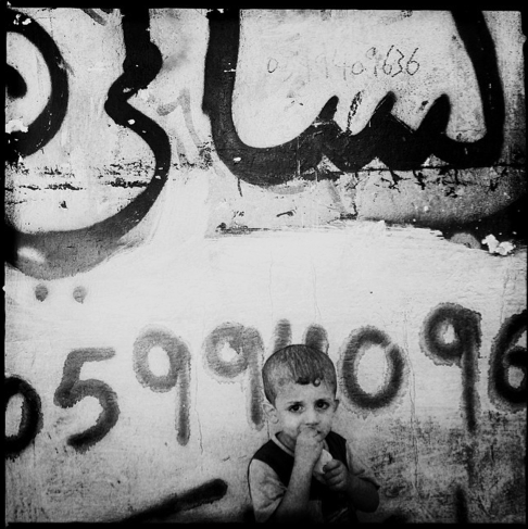 A Palestinian boy in Beach Camp, one of the biggest refugee camps in the Palestinian Territories.