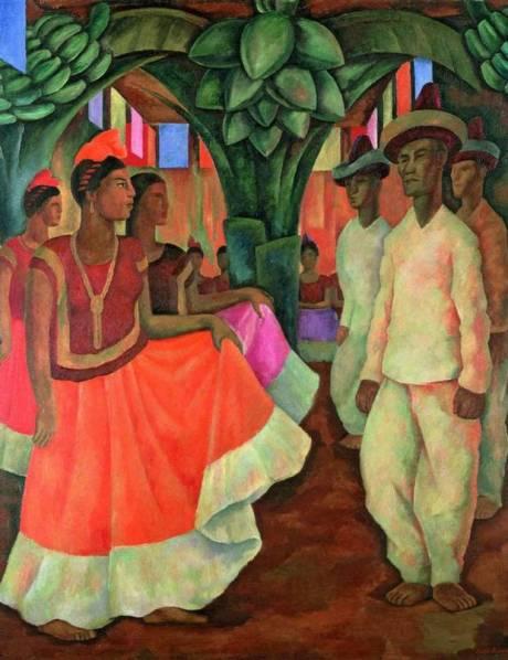 Dance in Tehuantepec, 1928 - Diego Rivera