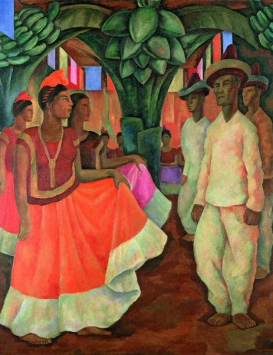 Dance in Tehuantepec, 1928 - Diego Rivera
