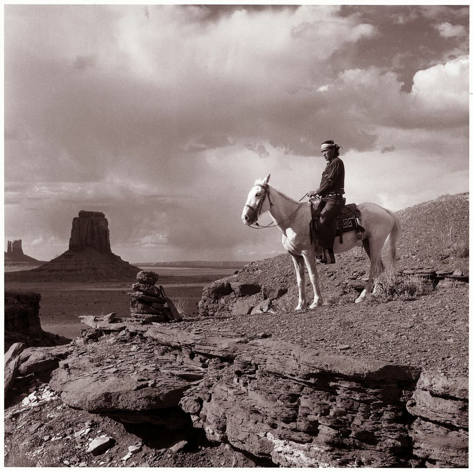 Willie Cly overlooking Monument Valley. Photograph by Johnathan Wittenberg