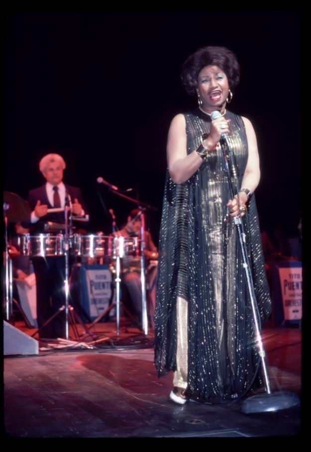 Celia Cruz and Tito Puente, Lehman College, 1982. Photograph by Joe Conzo