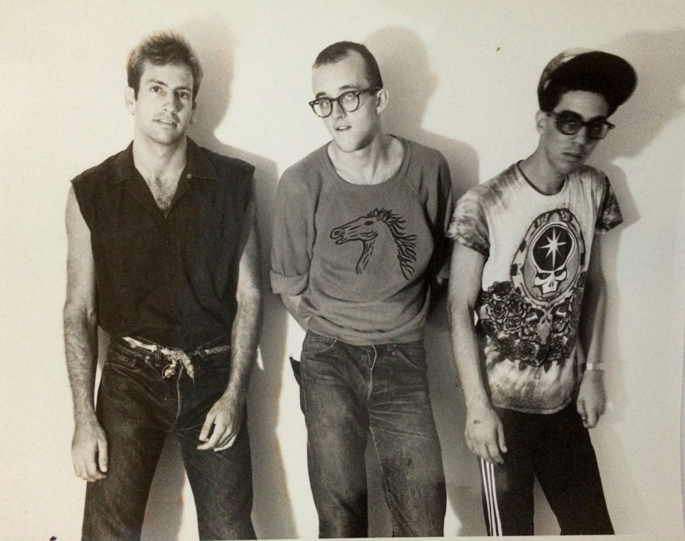 Kenny Scharf, Keith Haring, Futura 2000; Photograph courtesy of Barry Blinderman